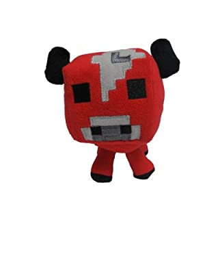 "Just Model Official Minecraft Overworld 7"" Plush Baby Mooshroom COW & Baby PIG Figure SET of 2 by Unknown"