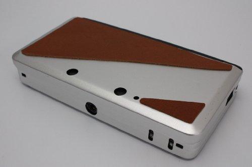 3DS用・革アルミケース(ニンテンドー3DS用アクセサリー)・キャメルサドルレザー付ハードカバー