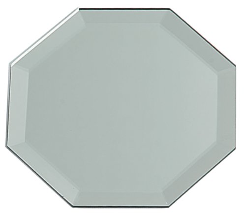 12 Inch Octagon Glass Mirror W/Bevel Edge