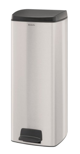 Brabantia Pedal Bin, 25 Litre, Matt Steel Fingerprint Proof