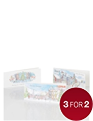 20 Winter Scene Christmas Multipack of Cards