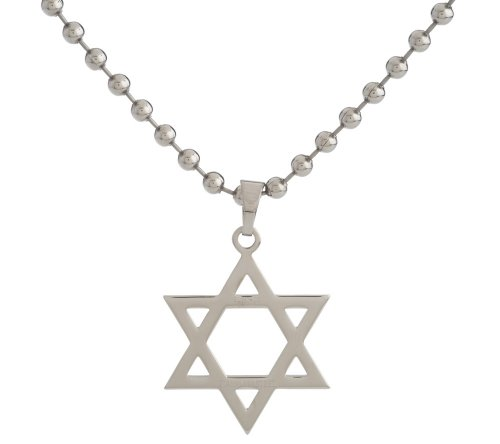 Edforce Stainless Steel Star of David Pendant