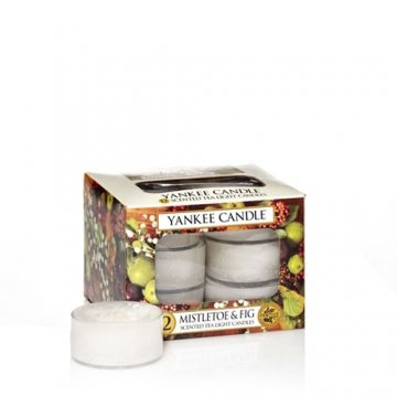 Yankee Candle Mistletoe & Fig Tea Lights Box Of 12