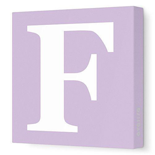 "Avalisa Stretched Canvas Upper Letter F Nursery Wall Art, Lilac, 36"" X 36"""