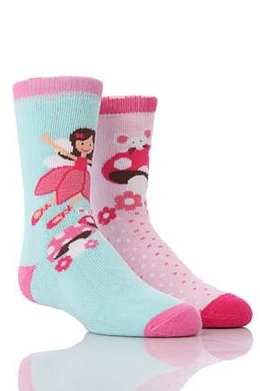 totes Tots (Girls) Slipper Socks (Twin Pack)