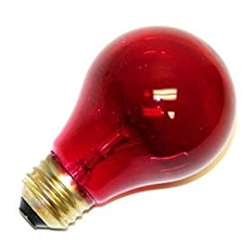 GE 16555 25-Watt Light Bulbs, Red 