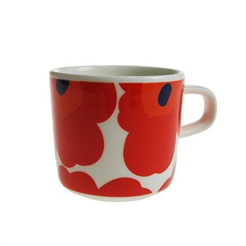 マリメッコ (marimekko) ウニッコ コーヒーカップ ホワイト×レッド 200ml [並行輸入品]