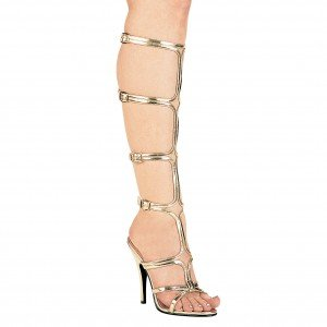 Women's 510-Sexy 5 Heel Knee High Strap Up Sandal