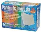 PM2.5対応 N99規格準拠 新型インフルエンザ対策マスク パンデミックガード99 スモール(子供用)30枚 3箱セット【冬季限定】