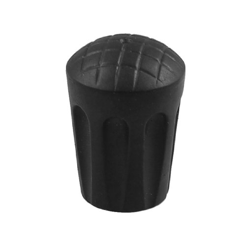 Replacement Walking Trekking Pole Stick Bottom Rust Protective Pad Support Black front-550313