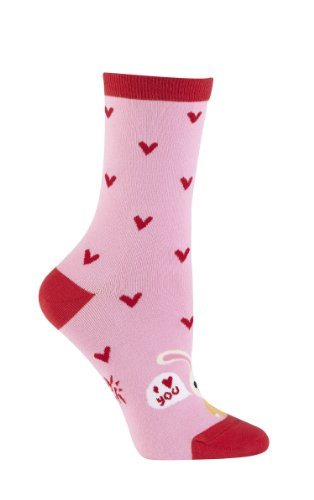 Sock It To Me Love Bunny Womens Crew Socks Romantic Novelty Garments