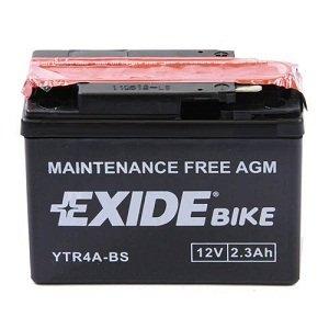 Exide YTR4A-BS Moto Batterie - 2.3ah  , Comprend L'Acide