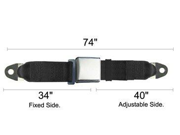 Universal Seat Belt, Replacement Seatbelt, Satin Lift Latch, Navy Blue, 74 Inch, front-759347