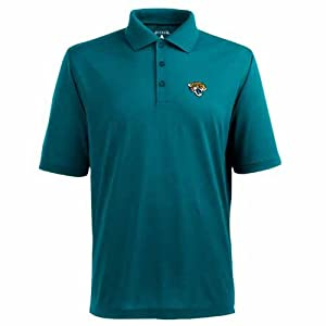 Jacksonville Jaguars Pique Xtra Lite Polo Shirt (Team Color) by Antigua