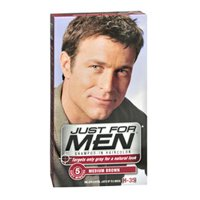 Just For Men Shampoo-in Hair Color Medium Brown 2pk by Just For Men