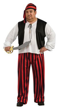 Mens Plus Size Pirate Halloween Costume for Adults