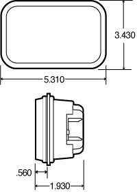 Truck-Lite 45201Y Yellow Super 45 Turn Signal Lamp