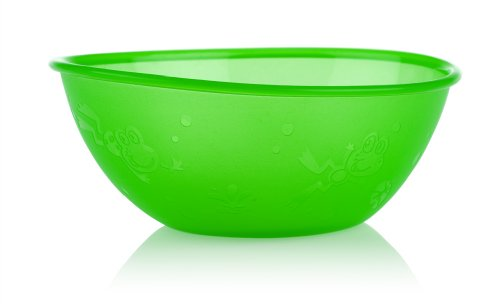 Nuby 4 Pack Embossed Bowls, Colors May Vary