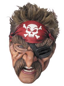 Disguise Pirate Vinyl Chinless Mask