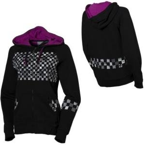 Volcom Women&#8217;s Hoodie Checker Wrecker Full-Zip Hooded Sweatshirt