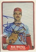 Bob Shirley St. Louis Cardinals 1982 Fleer Autographed Hand Signed Trading Card. by Hall of Fame Memorabilia