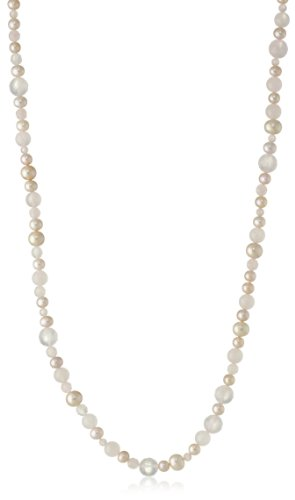 Natural Pink Freshwater Cultured Pearl with Rose Quartz Beaded Endless Necklace