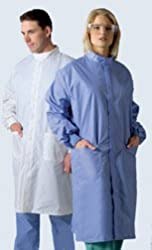 Unisex ASEP A/S Barrier Lab Coat - Ciel Blue, Large Model 6621BLCL