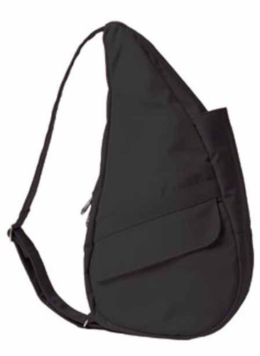 Healthy Back Bag Women's Microfibre Medium Sling Backpacks,Black