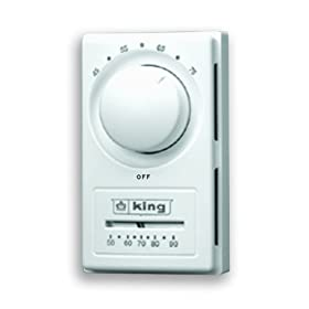 King HET-2R Double Pole European Style Anticipated Thermostat White