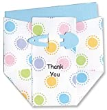 Cute Dots Diaper Thank-you Cards - Set of 10