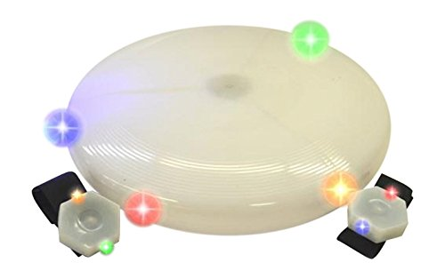 Flying Flashing Disk- 10 Inch with Two Flash Bands
