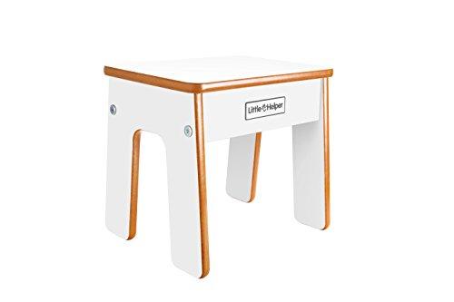 Little Helper - Mueble 2 en 1 escritorio y taburete infantil, color blanco