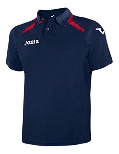 Joma Champion II - Polo da uomo, colore blu navy / rosso.  Taglia M