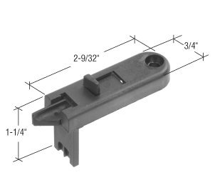 C.R. Laurence F2660 Crl Black Tilt Window Latch For Keller back-542932
