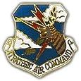 US Air Force Strategic Air Command Shield Lapel Pin