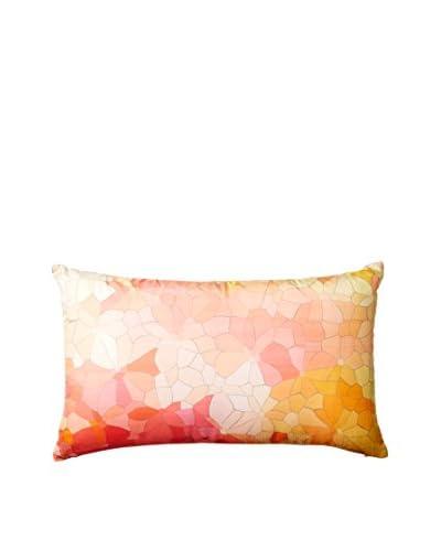 Nitin Goyal London Large Mosaic Silk Lumbar Pillow