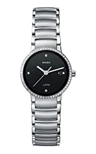 Rado Men's R30933713 Centrix Stainless Steel Diamond Bezel Watch