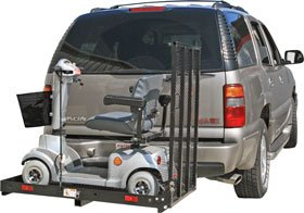400 lb. Capacity Power Scooter and Wheelchair Folding Cargo Carrier Rack