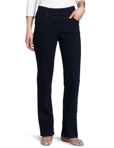 Lee Women's Petite Natural Fit Pull On Barely Bootcut Pant,