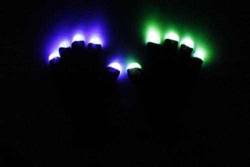 Lanlan Raver Blacked Out Gloves Rgb Led 7 Colors Light Show Gloves