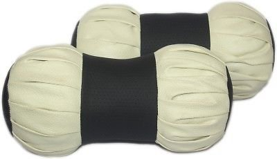 Delhi Traderss CAR NECK REST PILLOW CUSHION NECKREST DAMROO BLACK BEIGE
