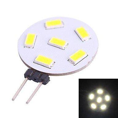 G4 1W 230Lm 7000K 6X5730 White Led Light Bulb(Dc 10-30V)