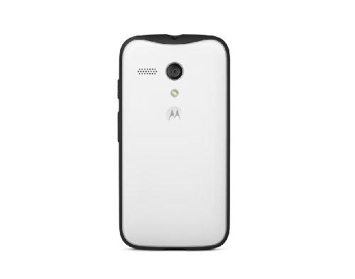 Motorola Grip Shell for Moto G - Retail Packaging - White + Black TPU