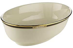 Lenox Hancock Gold-Banded Fine China Open Vegetable Bowl