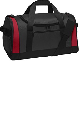 port-authority-luggage-and-bags-voyager-sports-duffel-osfa-dark-grey-red