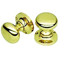 Victorian Style Brass Door Knobs - Mushroom shape - Sprung by OriginalForgery
