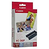 Canon 7739A001 KC-36IP photo paper inkjet 54x86mm 36 Blatt with color ink cartridge for CP-100