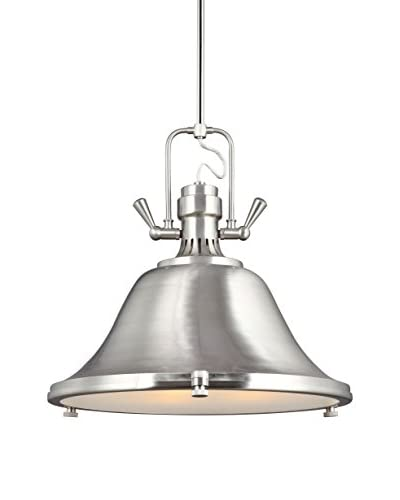 Sea Gull Lighting Stone Street 3-Light Pendant, Brushed Nickel