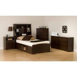 Cheap Kids Bedroom Furniture Set 1 in Espresso – Fremont – Prepac Furniture – FRE-KBSET-1 (FRE-KBSET-1)