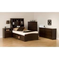 Cheap Kids Bedroom Furniture Set 1 in Espresso – Fremont – Prepac Furniture – FRE-KBSET-1 (FRE-KBSET-1)